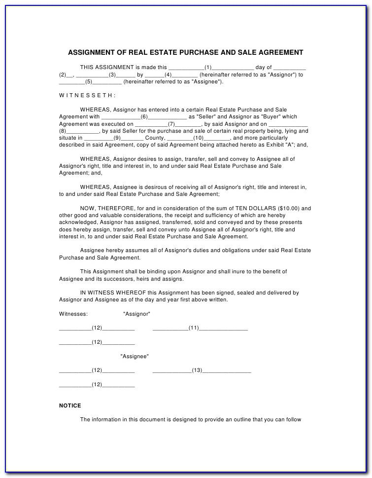Purchase And Sale Agreement Template Nova Scotia