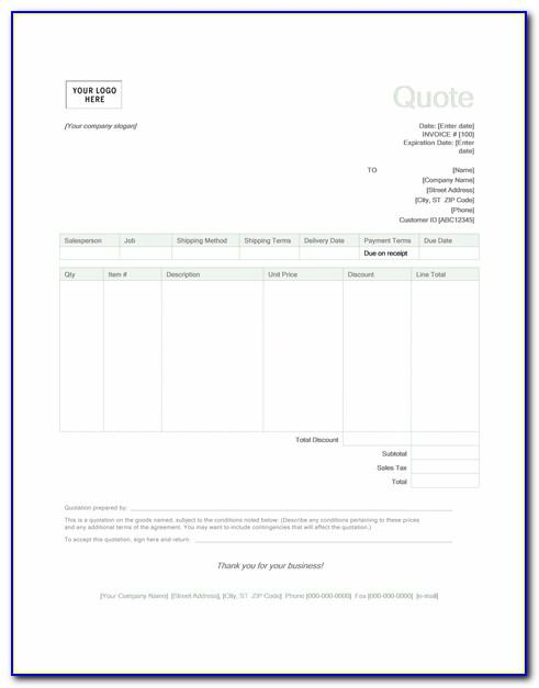 Quotation Template Design Free Download