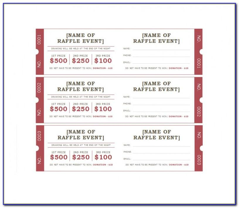 Raffle Ticket Templates Microsoft Word