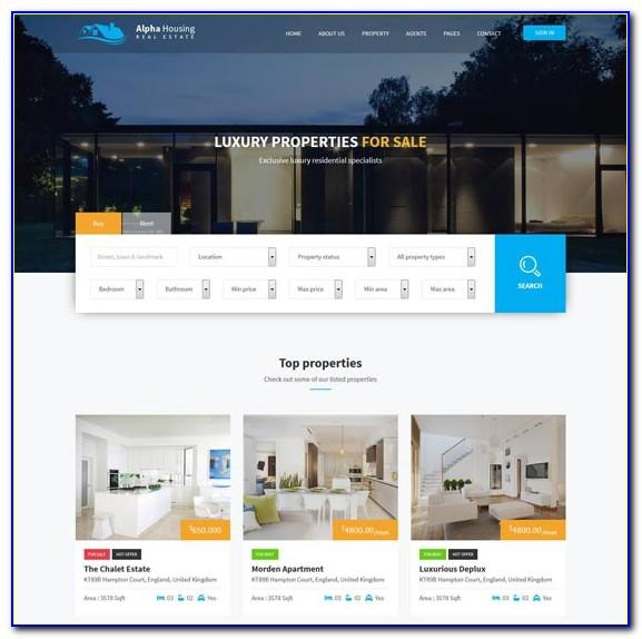 Real Estate Agent Website Design Templates