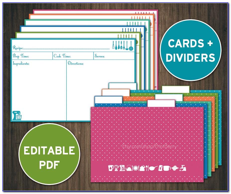 Recipe Card Divider Template