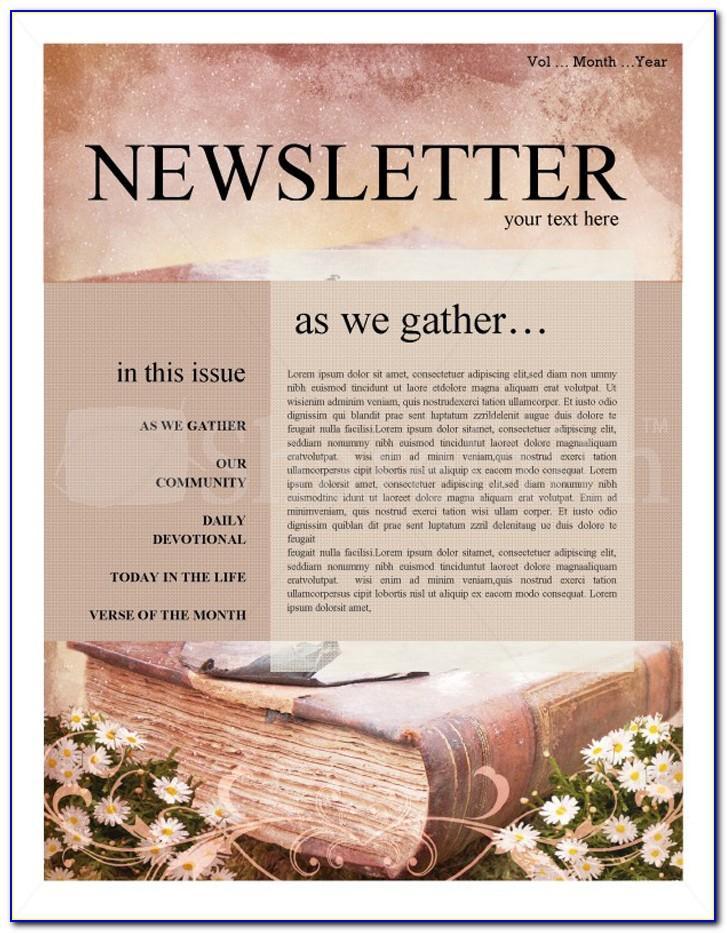 Religious Newsletter Templates Free