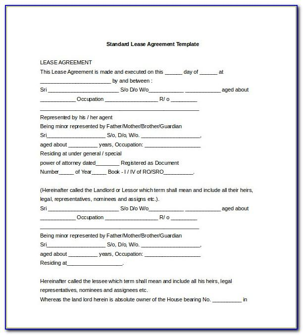 Rental Contract Template Pdf