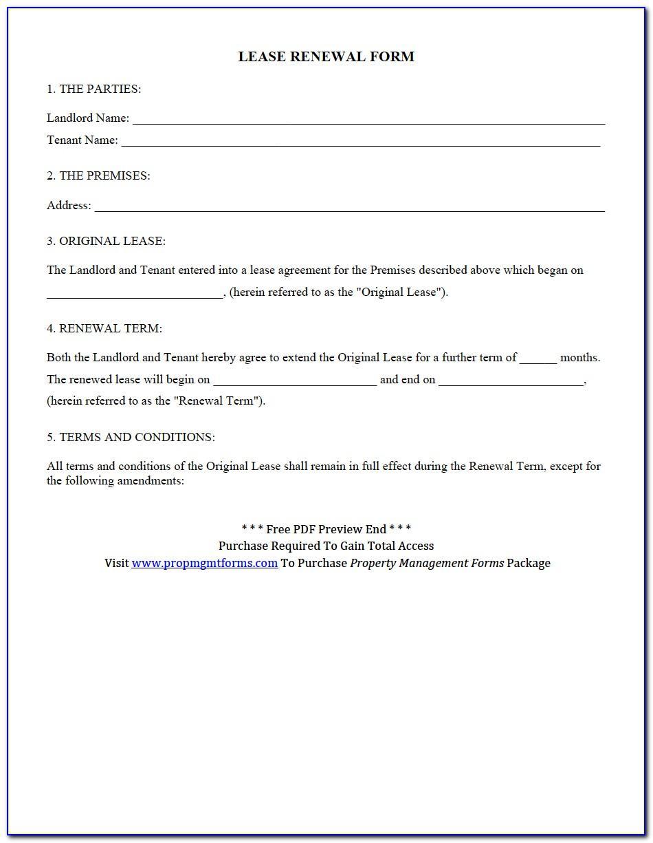 Rental Renewal Agreement Forms