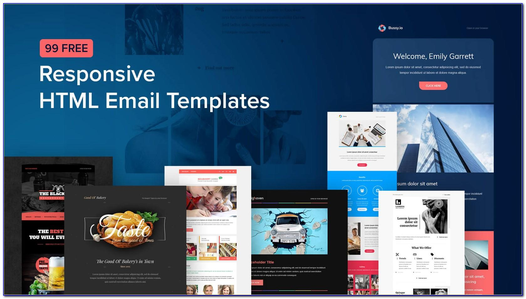 Responsive Html Email Template Mailchimp