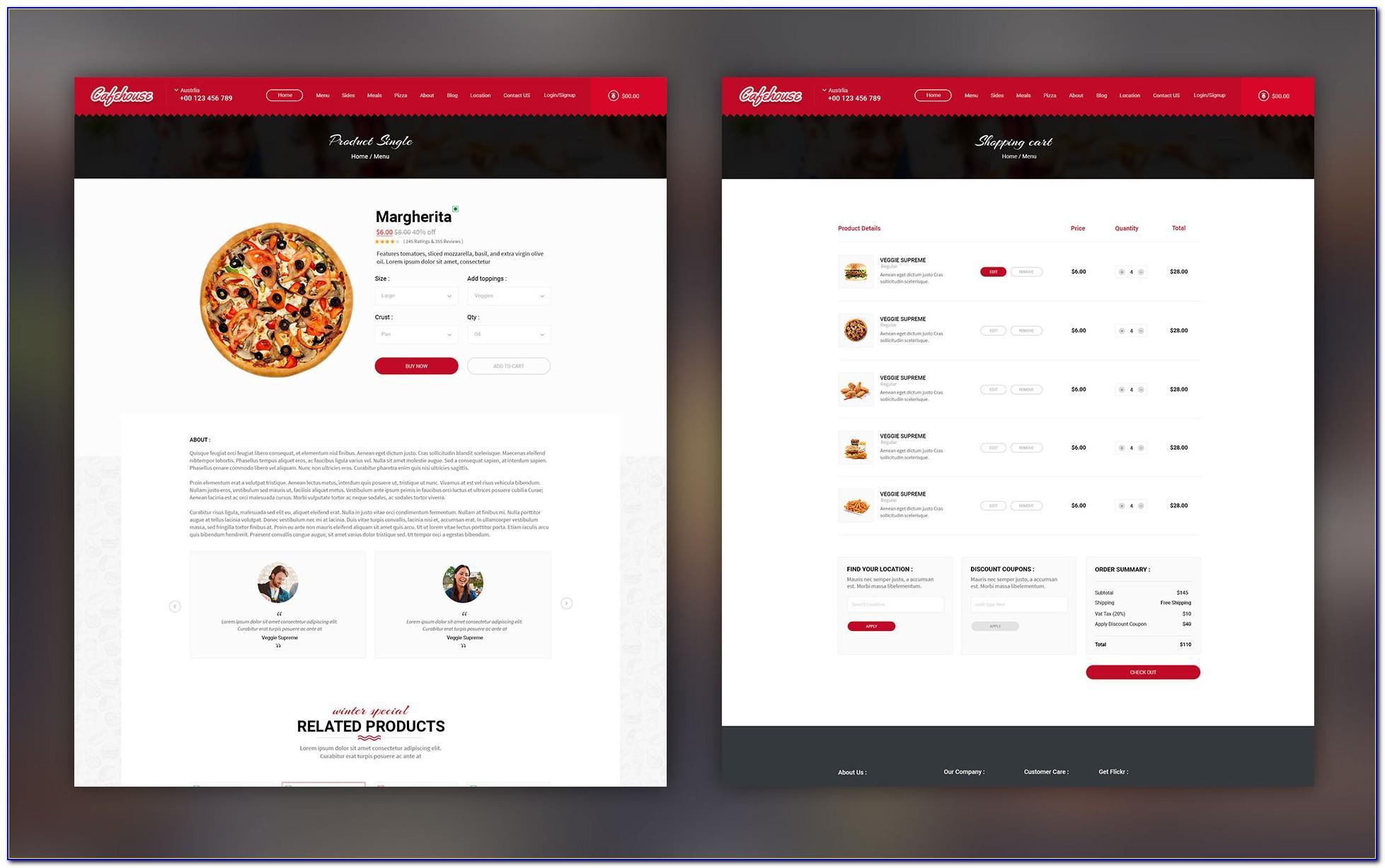 Restaurant Online Ordering Website Template