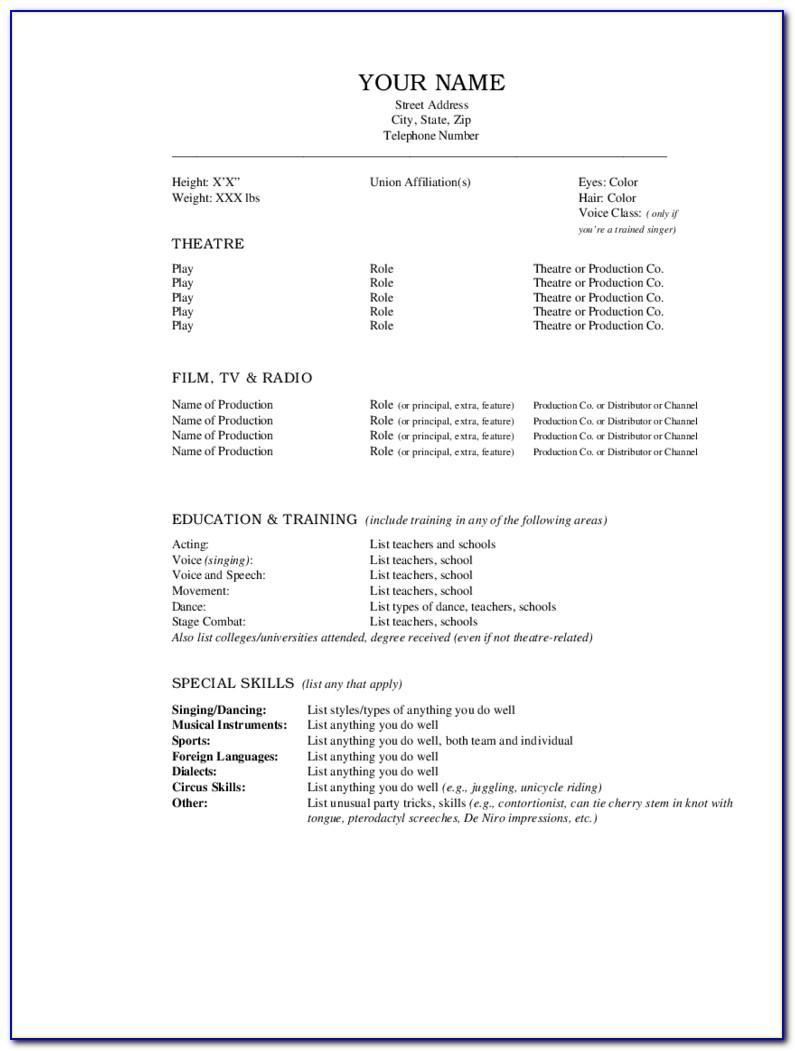 Resume Template Editable In Word