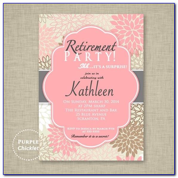 Retirement Invitation Template