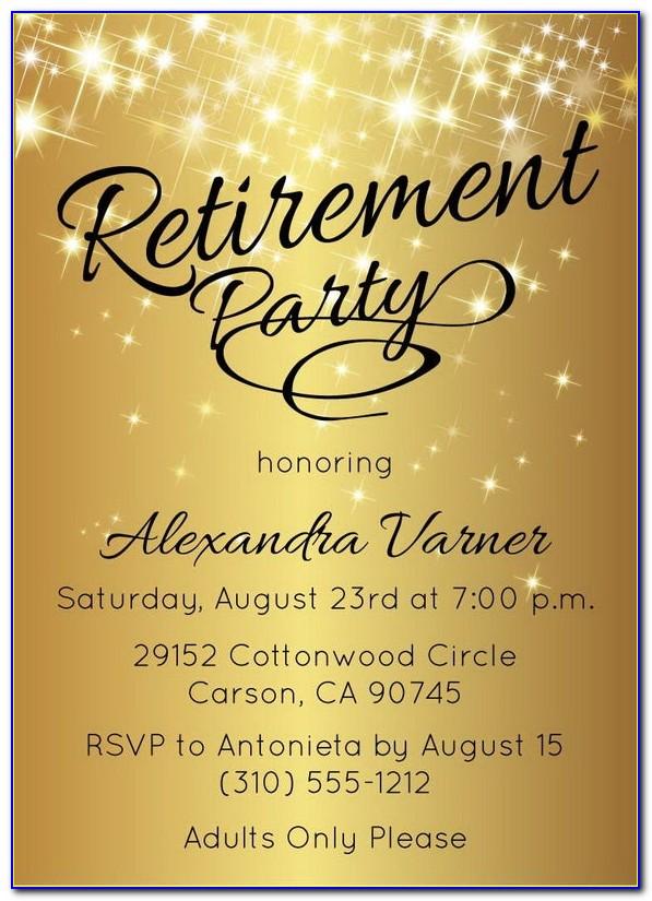 Retirement Invite Template Word