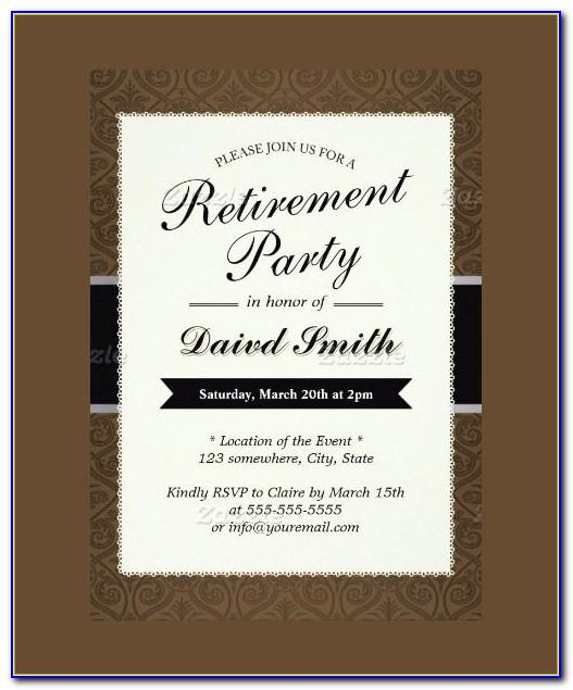 Retirement Party Invite Template Word Free