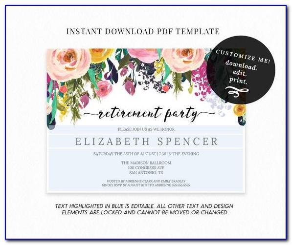 Retirement Party Templates For Word Free