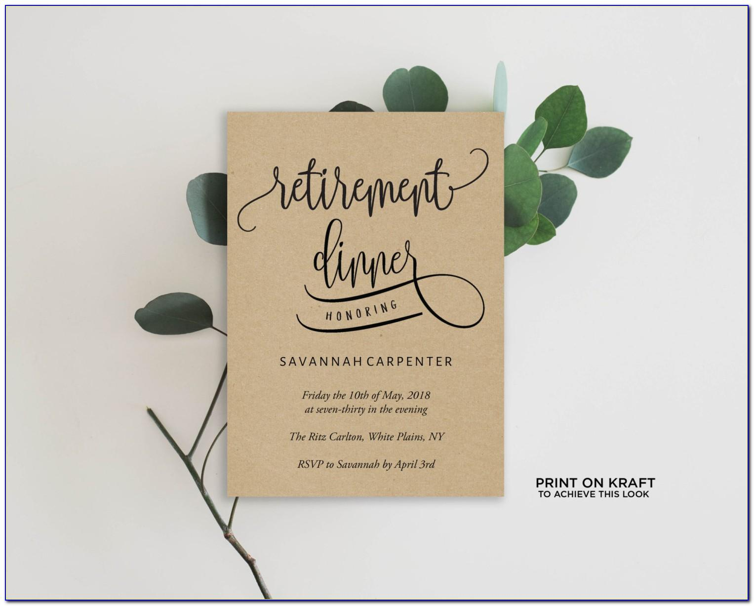 Retirement Party Templates For Word