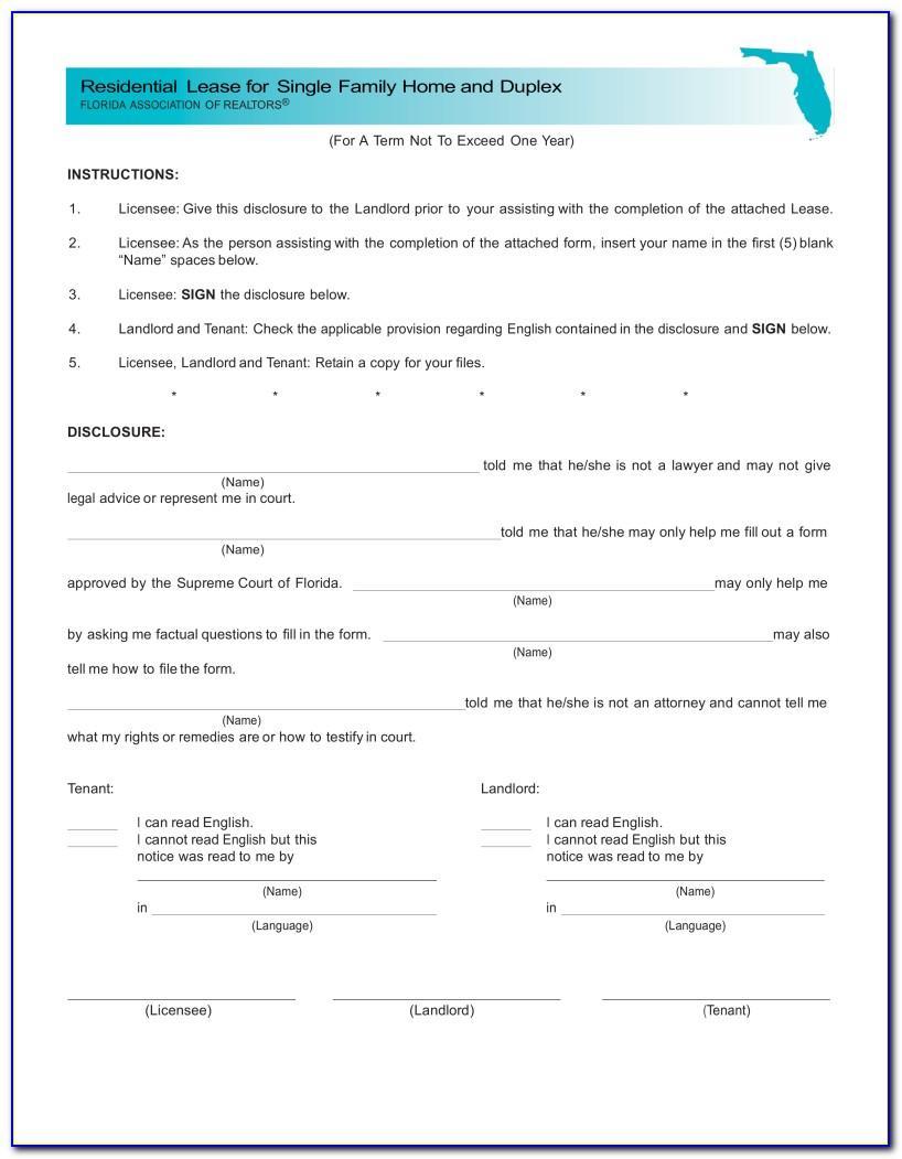 Room Rental Agreement Florida Template