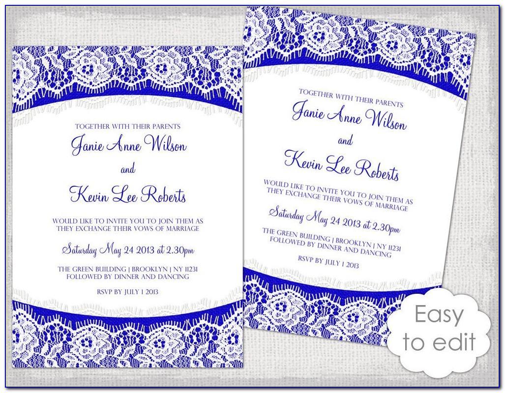 Royal Blue Invitation Designs