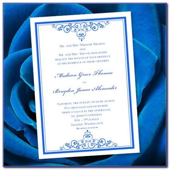Royal Blue Invitation Template