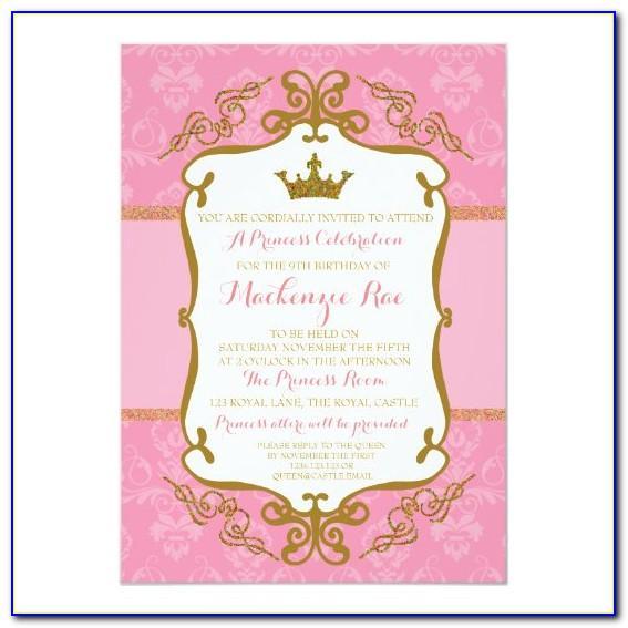 Royal Princess Baby Shower Invitation Template