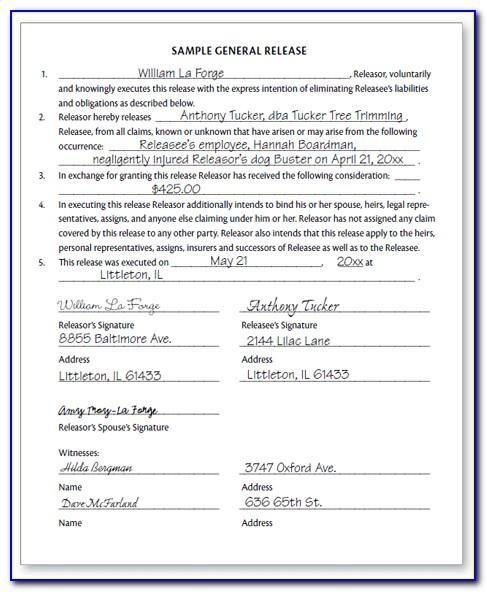 Sample Accident Settlement Agreement Letter