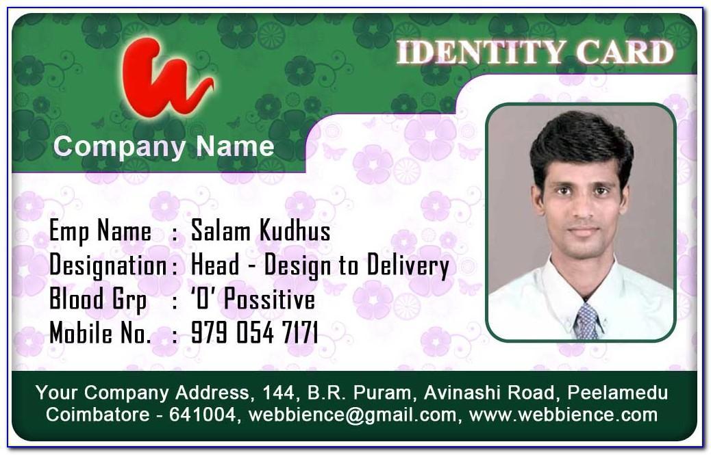 Sample Id Card Design Template