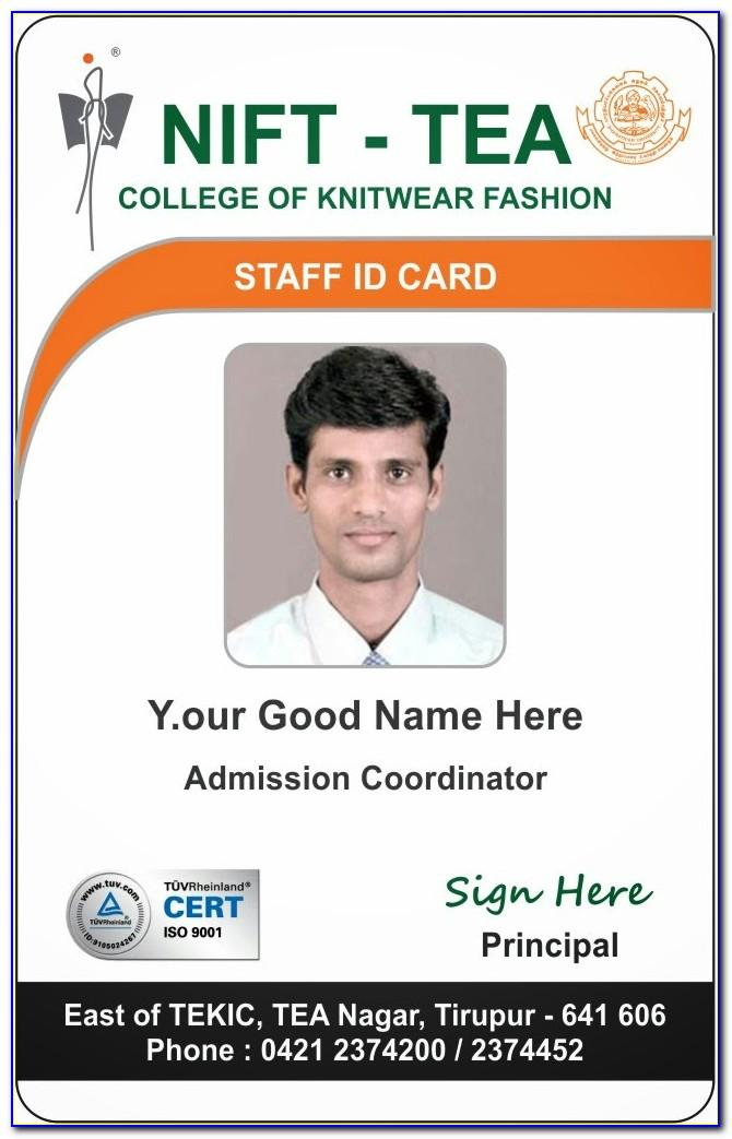 Sample Id Card Templates Free Download