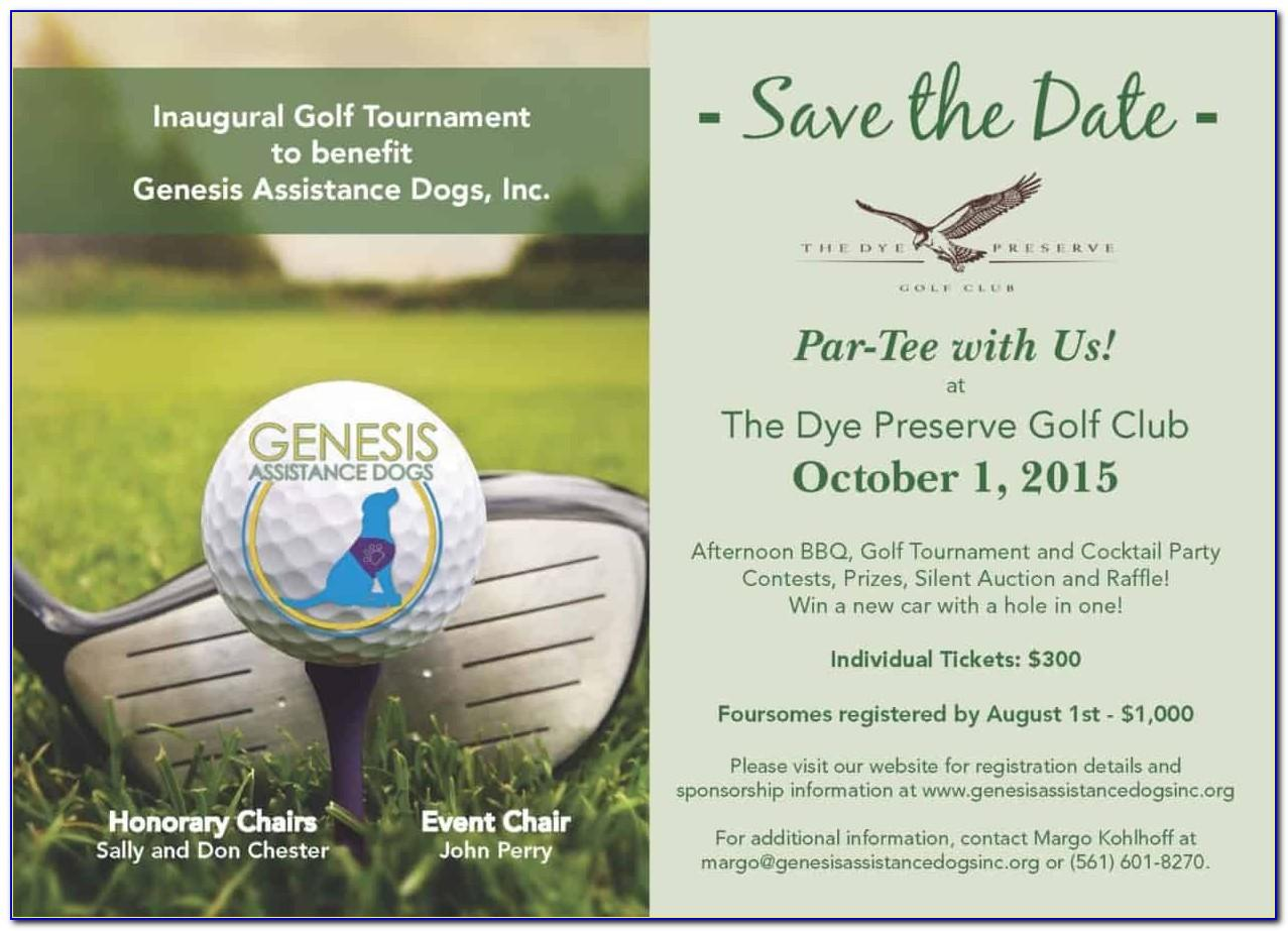 Save The Date Golf Tournament Free Template