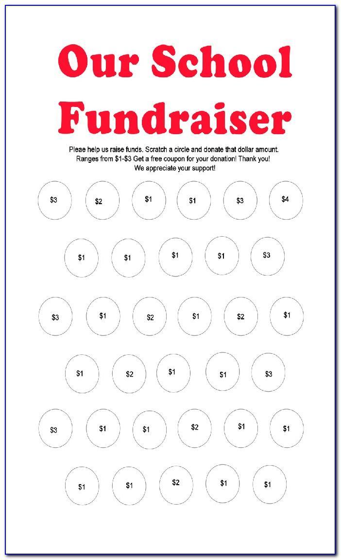 Scratch Off Fundraiser Templates