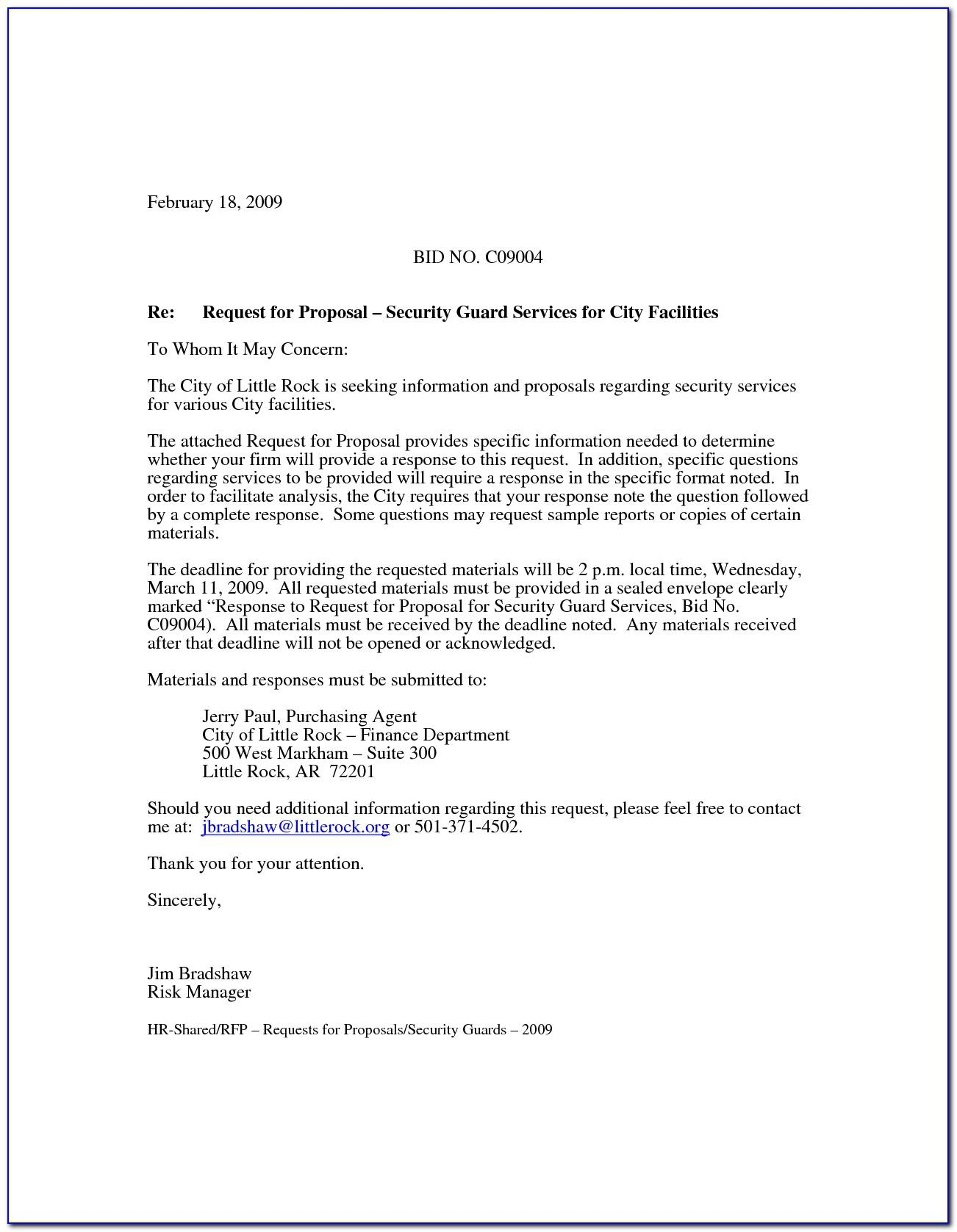 Security Service Proposal Template Download
