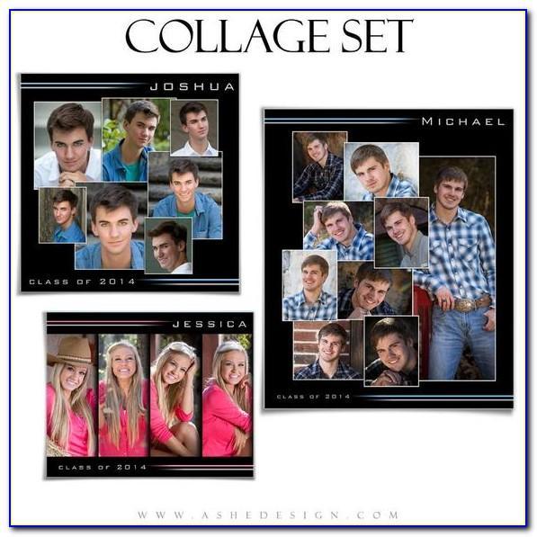 Senior Portrait Collage Templates