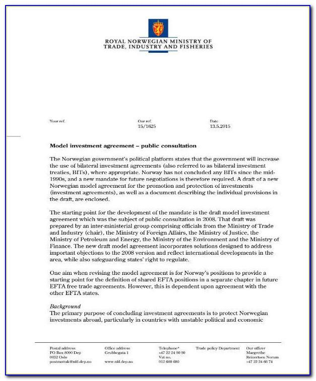 Simple Equity Investment Agreement Template