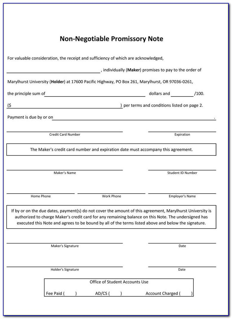 Simple Promissory Note Forms Download