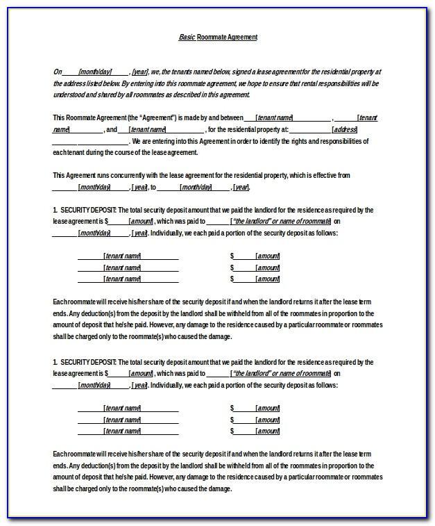 Simple Rental Agreement Word Format