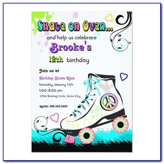 Skate Invitation Template