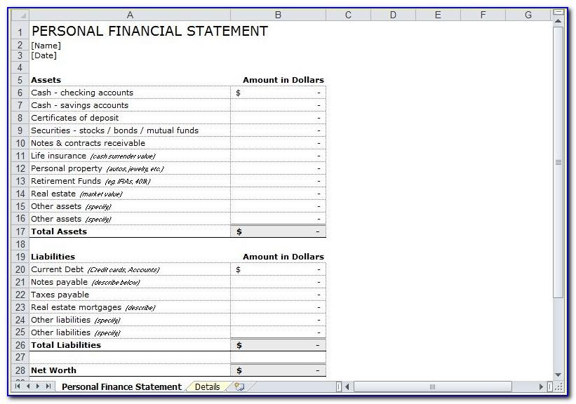 Small Business Financial Statement Template Excel
