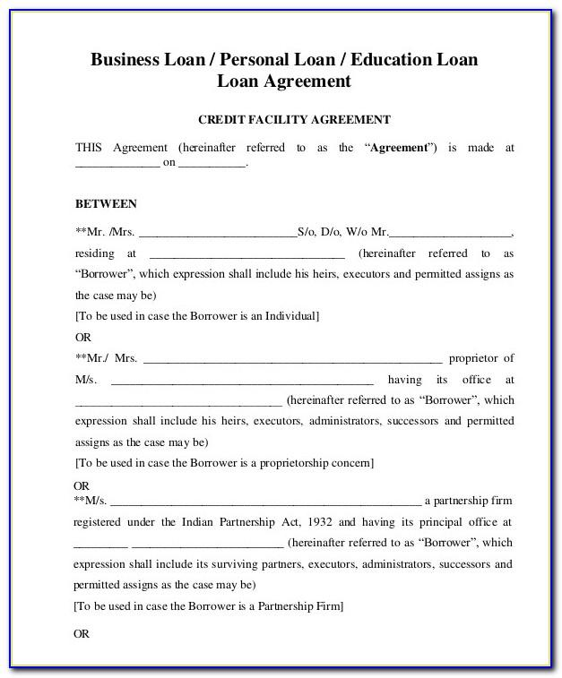 Small Business Loan Contract Template