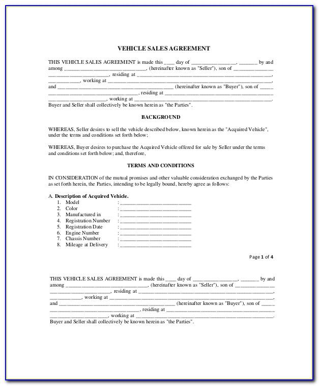 Small Business Sale Contract Template Free