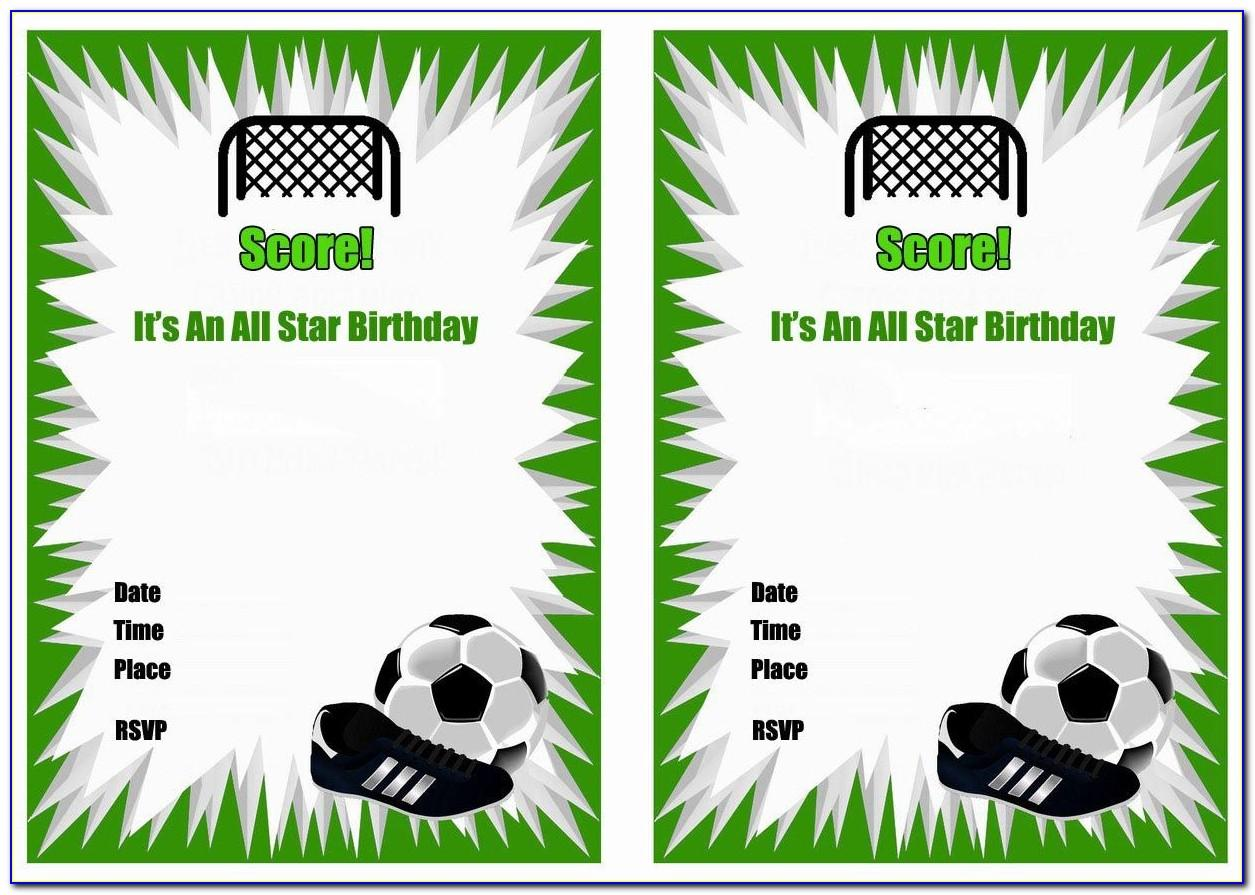 Soccer Birthday Party Invite Templates