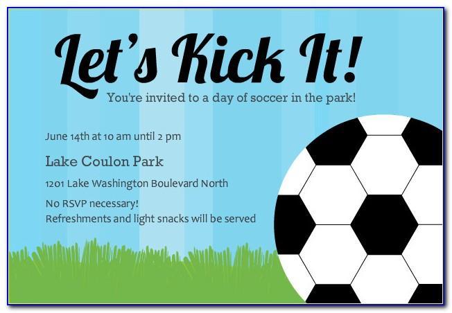Soccer Themed Birthday Invite Templates