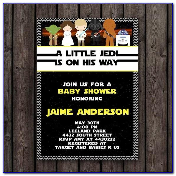 Star Wars Baby Shower Invitation Templates Free
