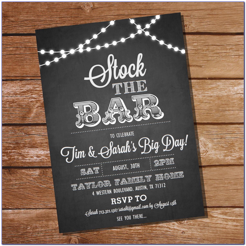 Stock The Bar Invitation Templates