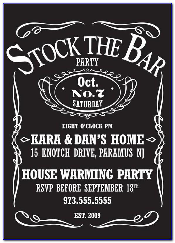 Stock The Bar Party Invitation Templates