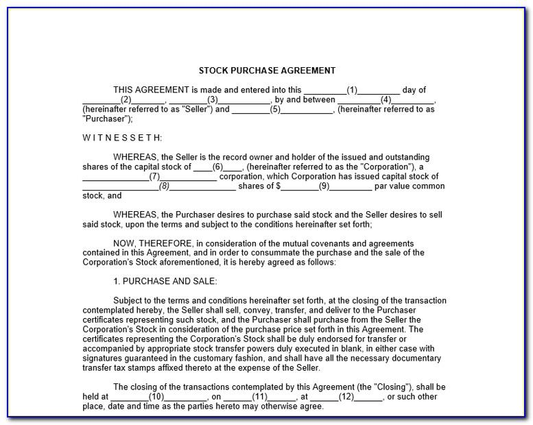 Stocking Agreement Form