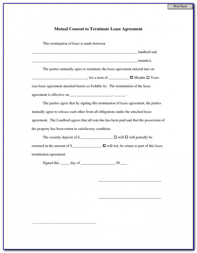 Sublease Form Template Free