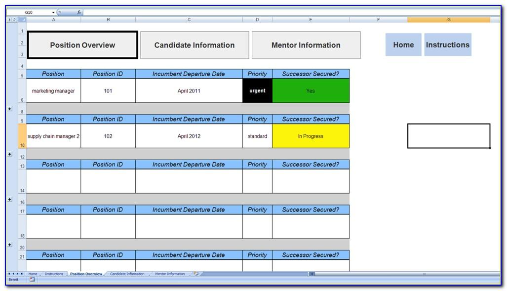 Succession Planning Template Free Download