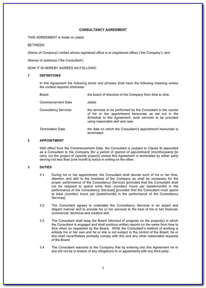 Template Consulting Agreement