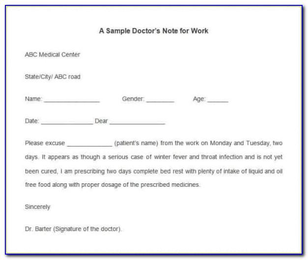 Template For Medical Notes