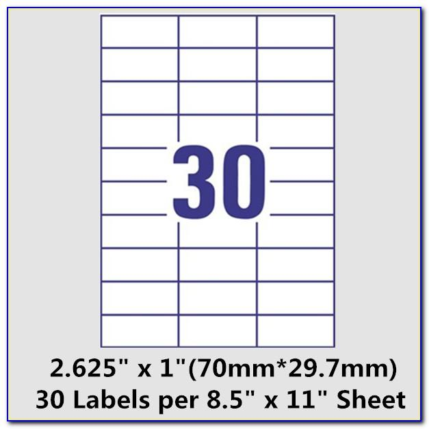 Template For Printing Labels In Word