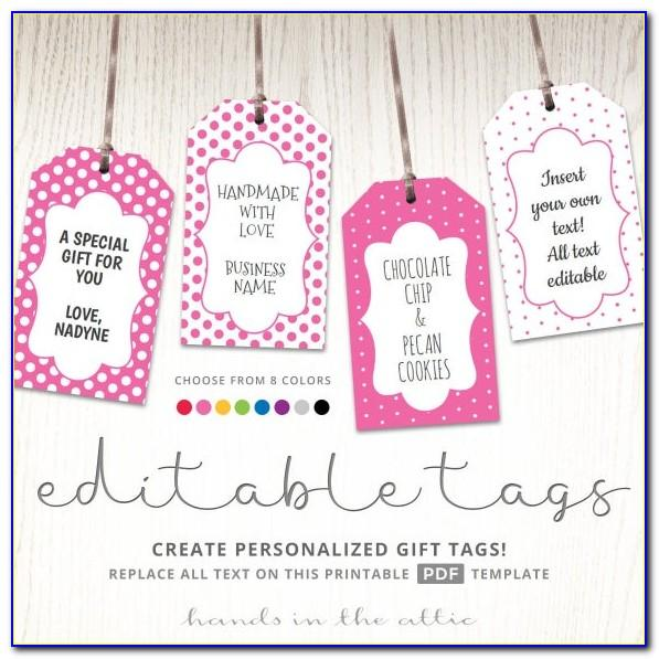 Template For Wedding Favor Tags