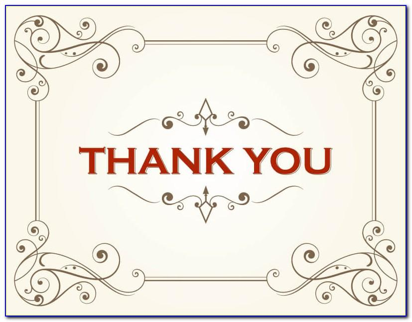 Thank You Note Card Templates Word