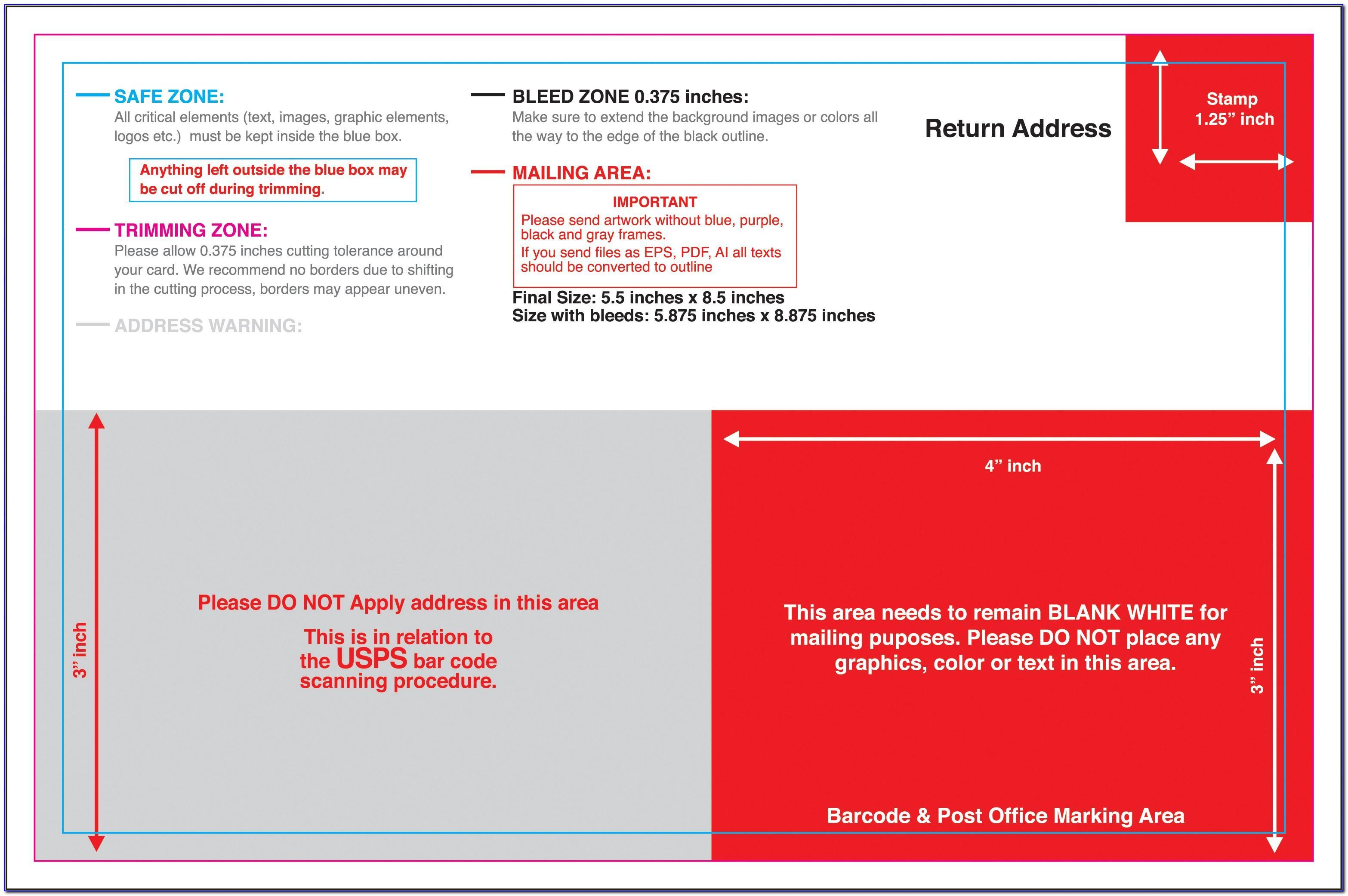Us Postal Service Postcard Design Template