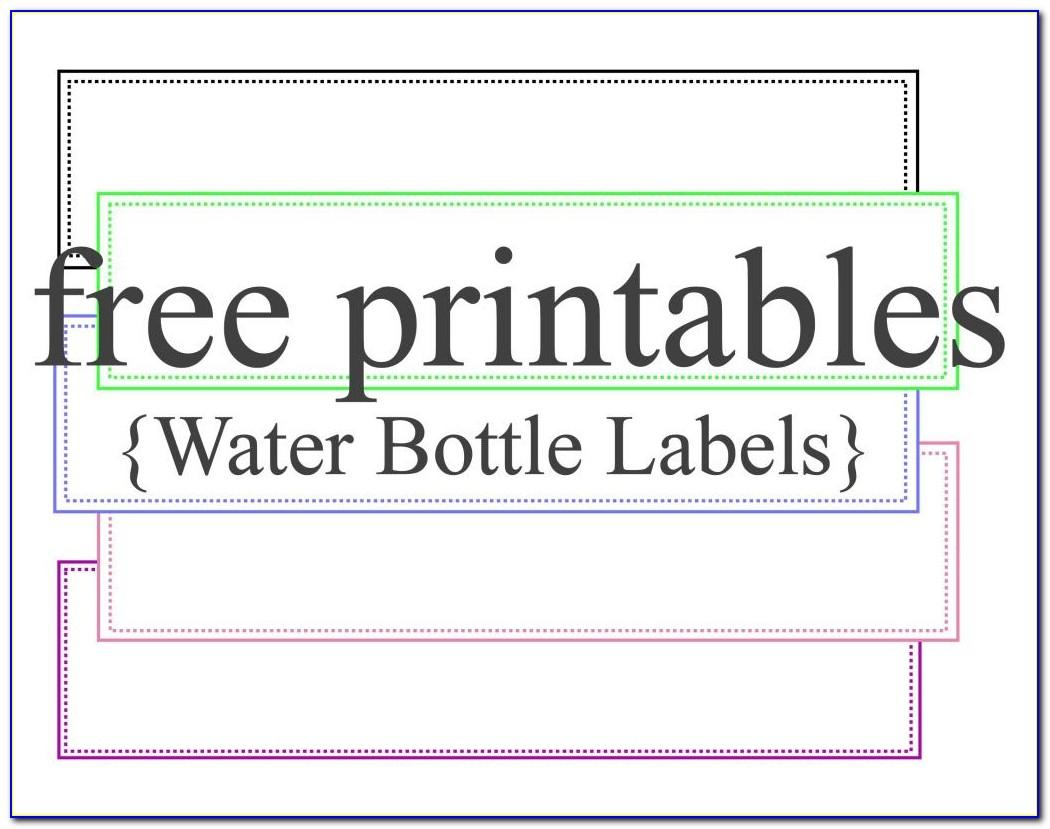 Water Label Template Download