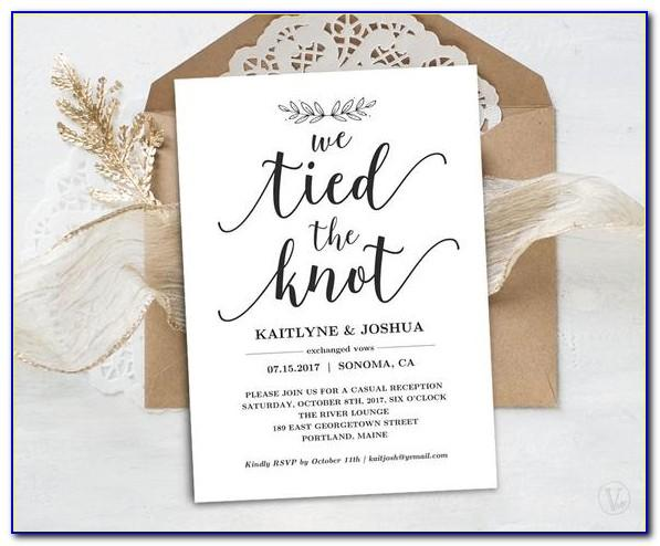 We Eloped Announcement Template